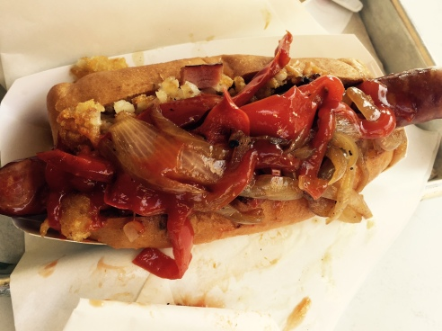 Celebrity chef Neal Fraser is the mad genius behind reinventing the hot dog at Fritzi Dog. (Photo by Scott Bridges)